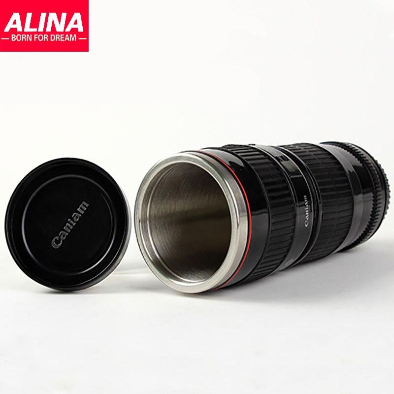 Canon White Black Stainless Steel Hot Water Generation Of Creative <font><b>Lens</b></font> <font><b>Cup</b></font> <font><b>Mug</b></font> <font><b>Gift</b></font> <font><b>Mug</b></font> Camera