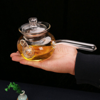 PINDEFANG 400ml abierto fuego Heatable Mini estilo lindo Blooming floja hoja tetera con filtro Microwavable, estufa segura tetera