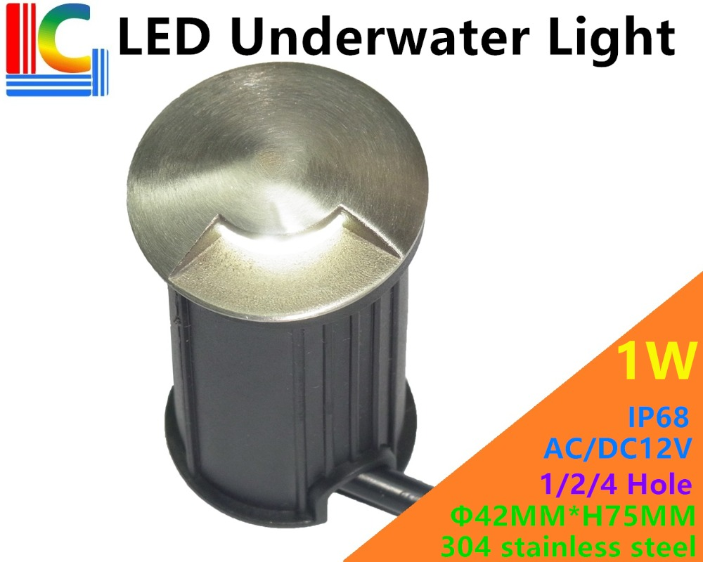 Led Lamps Lights & Lighting Dashing 42mm 1/2/4 Hole 1w Outdoor Underwater Led Light Ip68 12v Swimming Pool Lights Waterproof Ladder Lights Pond Underground Light Ce Warm And Windproof