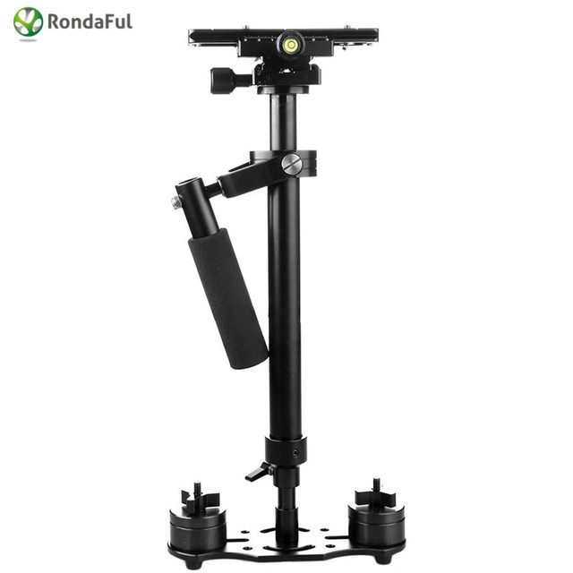 Handheld câmera estabilizador s60 steady video cam Filmadora DV DSLR steadicam minicam estabilizador de câmeras Compactas Para canon