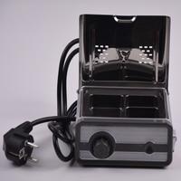 1 Piece 110V/220V Portable Dental Lab Wax Pot Heater with Three Basins for Dental Labs Dental Wax Pot with 3 Slots