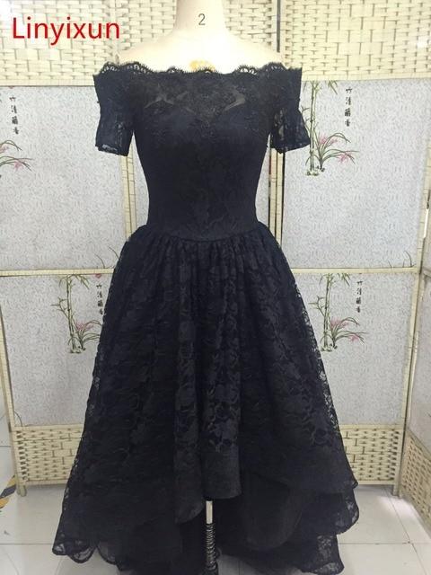 Robe noir dentelle en haut