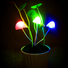 24pcs/lot Lovely Mushroom Potting Design Night Lamps Color Changing LED Flashlights Festival Birthdays Gifts HX475