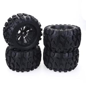 Image 3 - 2020 New 4PCS 125mm 1/10 Monster Truck Tire & Wheel Hex 12mm For Traxxas Tamiya Kyosho HPI HSP Savage XS TM Flux LRP