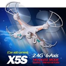 TS X5 2.4G RC Helicóptero 4CH Drone Quadcopter Control Remoto con/sin cámara onekey retorno mejor que syma x5c x5-1 X5C-1