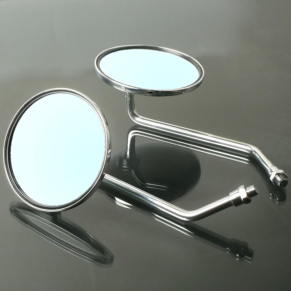 Vintage Classic Retro Bike Bicycle Rear View Mirror Chrome Round w// Reflector