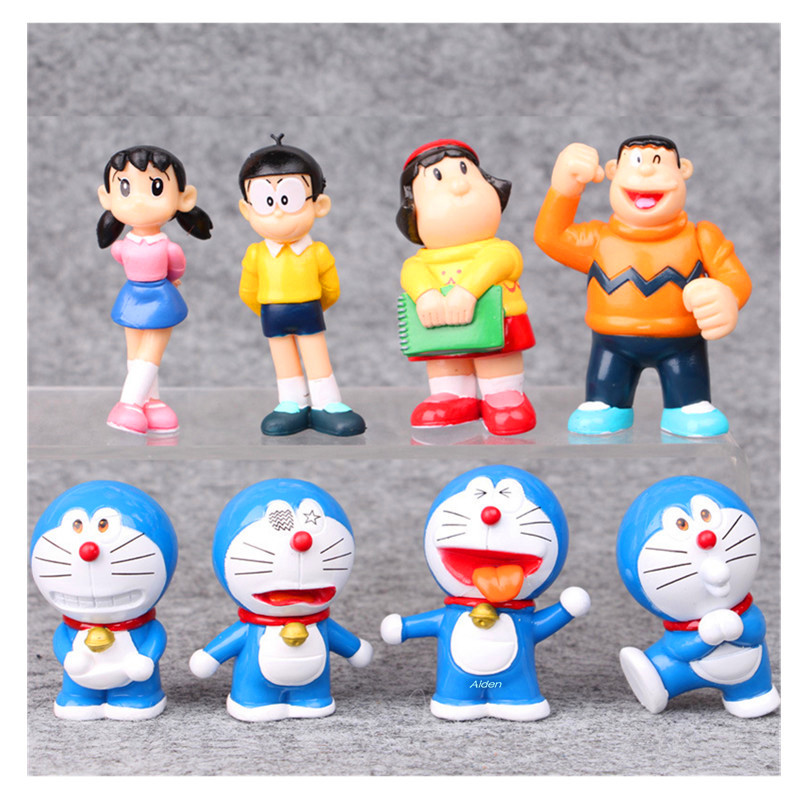 8pcs//set PVC Action Figures Collectible Model Toys