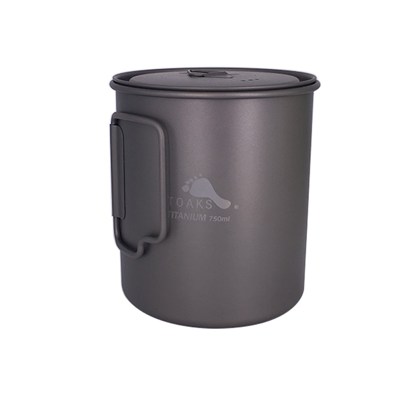 TOAKS 3in1 Pot en titane 750 ml tasses en titane portables ultra-légères Camping tasse en titane POT-750ML