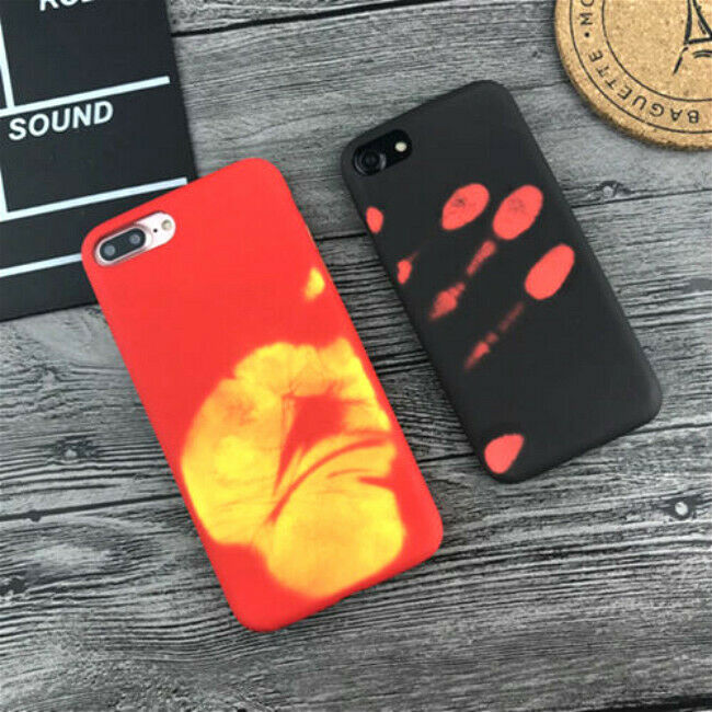 Thermal Sensor Case for IPhone 6 8 XR X XS 7 6s Plus Heat Induction Phone Cover Fundas Protective