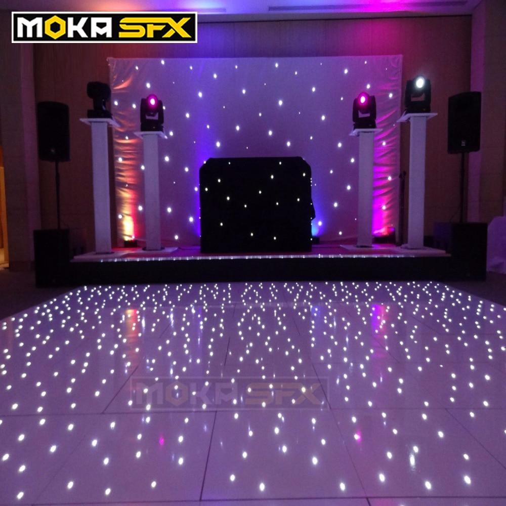 14x14 feet sensitive led dance floors led disco floor lights with flight case for wedding party event led tiles