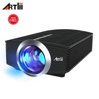 Мини Портативный светодиодный видеопроектор Artlii 1600 люмен проектор со стереодинамиком для Gamin вечеринок домашний кинотеатр проектор