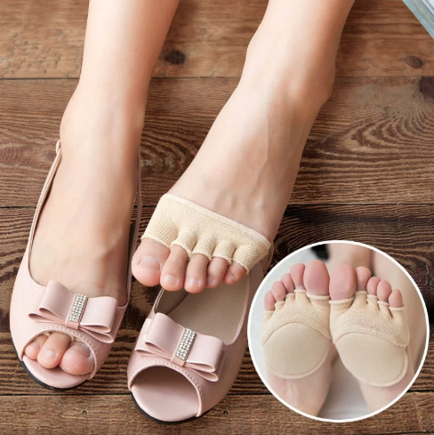 8531610c02 1 Pair Foot Care Insoles Cotton Half Insoles Pads Forefoot Pain Relief  Massaging