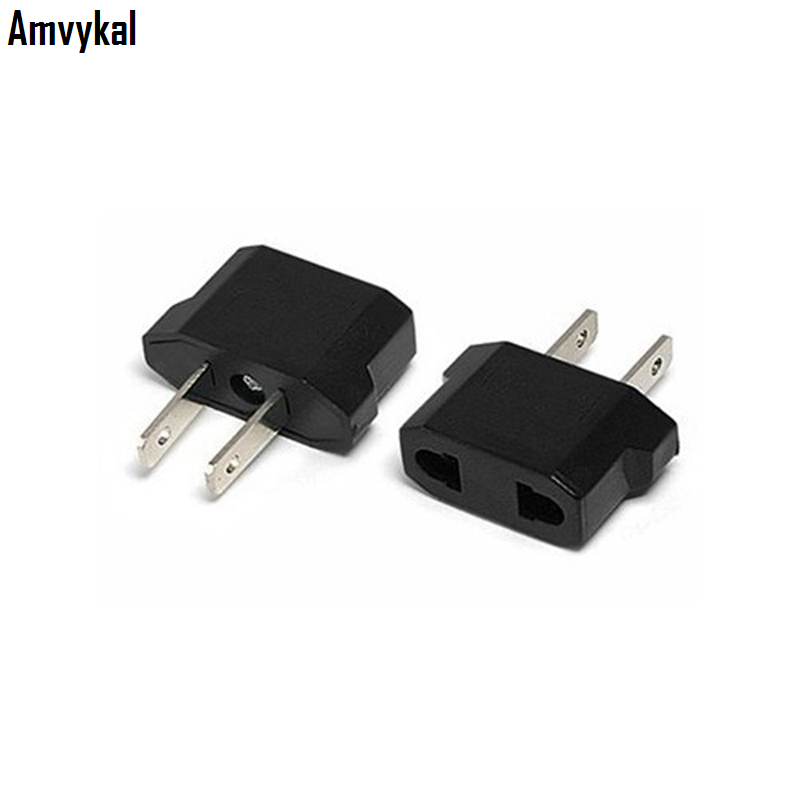 Amvykal Universal Usa Travel Plug Adaptador Connector Eu To Us Electrical Adapter Socket Converter 2000 Pcs Lot In International Adaptor From