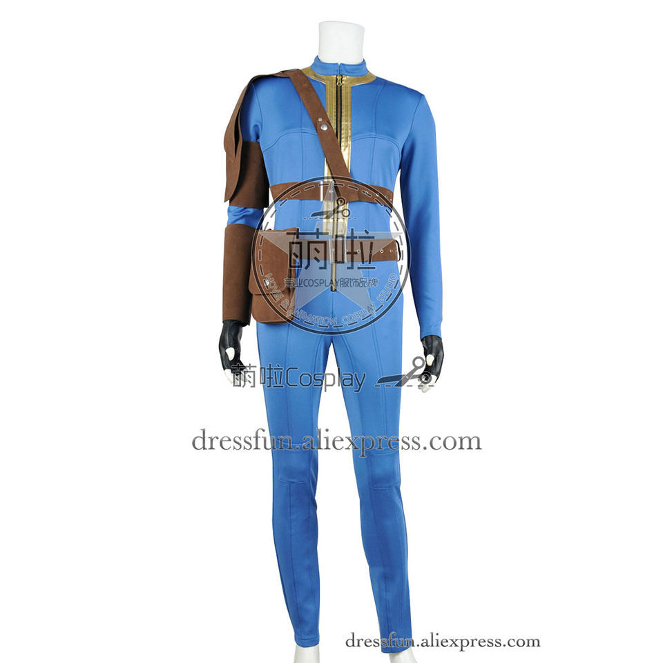 Fallout 4 Cosplay Far Harbor Vault Boy 111 Costume Uniform Jumpsuit Outfits Suit Halloween Fashion Party Fast Shipping