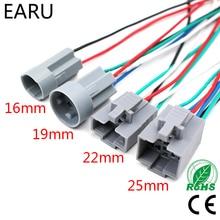 16 мм 19 мм 22 мм 25 мм кнопочный переключатель плоские шпильки Тип переключатель разъем кнопочный разъем провод с фабрики