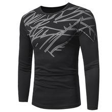 Male 2017 Brand Long Sleeve High Quality Printing Casual T Shirt O-Neck Slim Men T-Shirt Tops Fashion Mens Tee Shirt T Shirts цена и фото