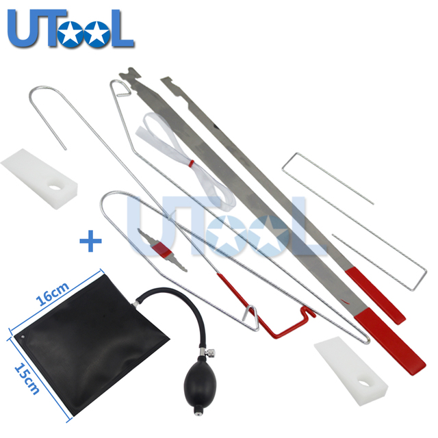 UTOOL Universal Car Lock Out Tool Kit Unlock Car Door Open Tool Kit With  Airbag Locksmith