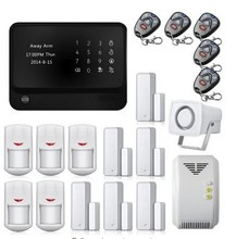 Android IOS APP Control Home Security WIFI GSM GPRS Alarm System G90B Touch Keypad Wireless Gas Detector