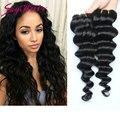 Малайзийские виргинские волосы глубокая волна 4 шт. лот 100% человеческих волос 100 г, небо человеческий волос девы малайзии глубоко волна волосы очень мягкие