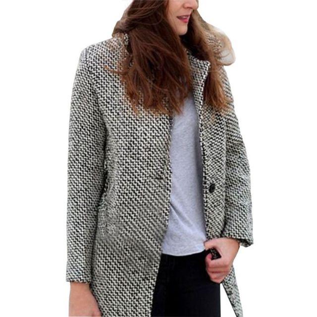 Женщины Зима Теплая Дамы Пальто Траншеи Верхней Одежды Длинная Шерсть Кашемировые Пальто Куртки