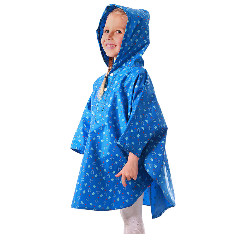 yuding rain poncho for kids waterproof rain coat children redblue color