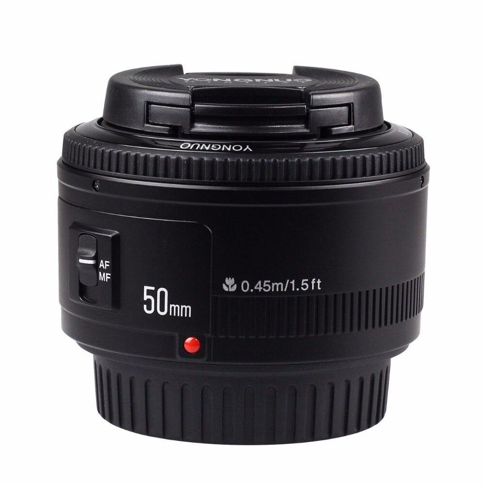 Objectif YONGNUO YN50mm f1.8 AF objectif de caméra à mise au point automatique pour Canon EOS 800D 760D 750D 80D 77D 70D 7D/II 6D 5Ds appareil photo reflex numérique