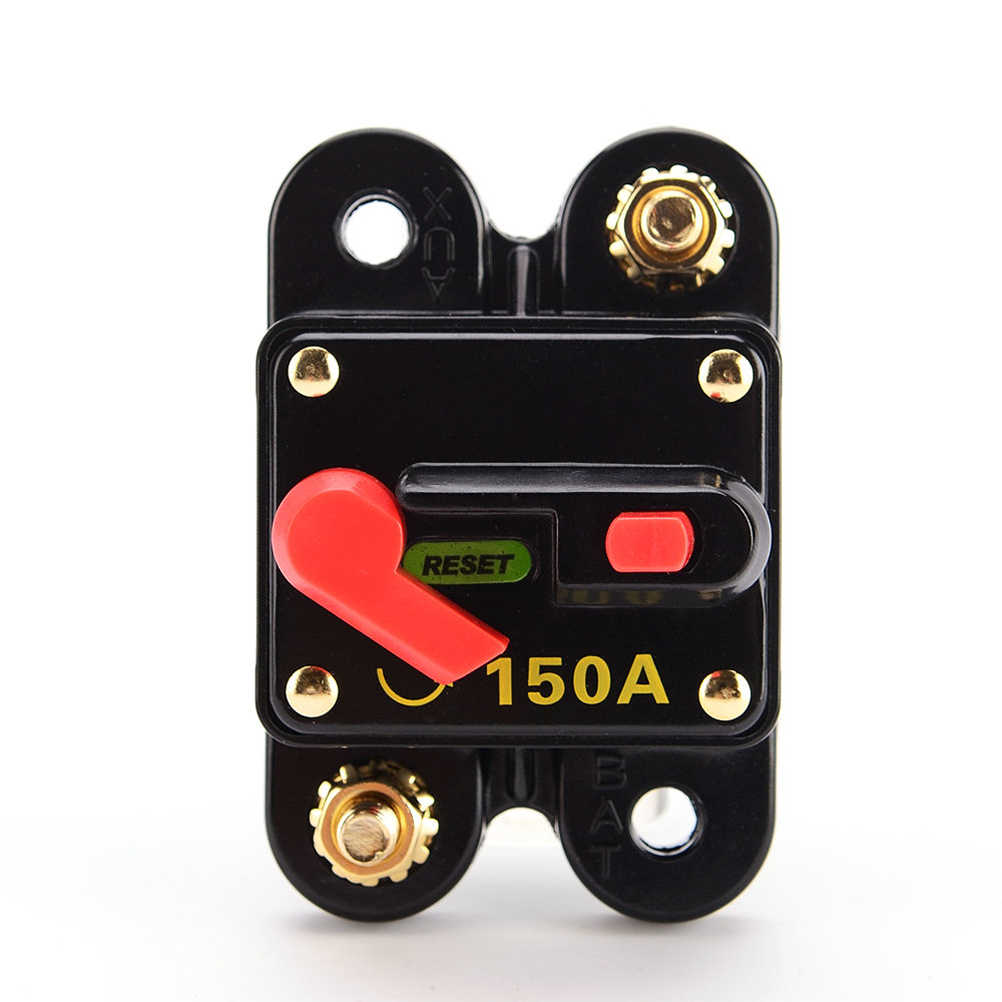 12V  150A Waterproof Manual Battery Disconnect Cut Off Reset Circuit Breaker Switch Car SUV Marine Boat Accessories
