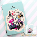 """Moomin Cartoon Flip Cover For iPad Pro 9.7"""" Air Air2 Mini 1 2 3 4 Tablet Case Protective Shell + same case for iphone"""