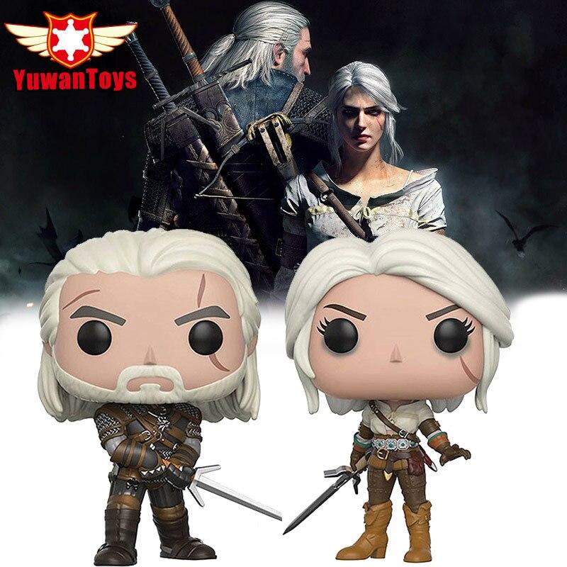 The Witcher 3 Sauvage Chasse Figurines the Witcher Geralt Vinyle Action Figure Collection collector Édition De Noël Cadeau