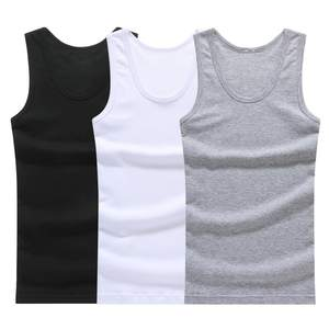 Left ROM 3pcs Cotton Mens Sleeveless Tank Top Muscle Vest
