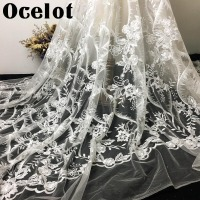 1 Yard Wedding Background Cloth Lace Fabric Stage DIY Craft Embroidery Lace Wedding Dress Materials Evening