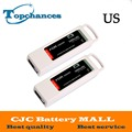 US High Quality 2PCS 5400mAh 11.1 Volt Lipo Battery For Yuneec Q500 Series RC Drone 11.1V 3S/3Cell