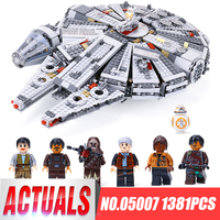 1381pcs Star Wars Lepin Millennium Falcon Toys Building Blocks Marvel Kids Toy Compatible 10467 Gifts