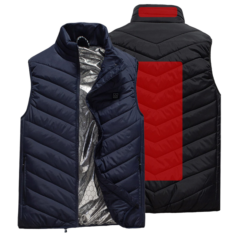 USB Heated Vest Men Winter Warm Heated Sleevless Jacket Outdoor Heating Vest Thermal Travel Waistcoat Hiking Heater Vests AM356