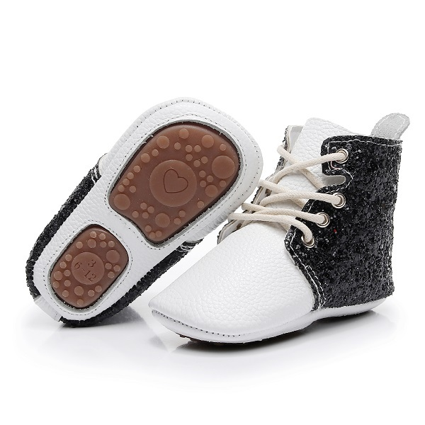 Hot Sale flower printing designer soft rubber bottom baby Shoes Toddler moccasins lace up Newborn Baby Classic booties