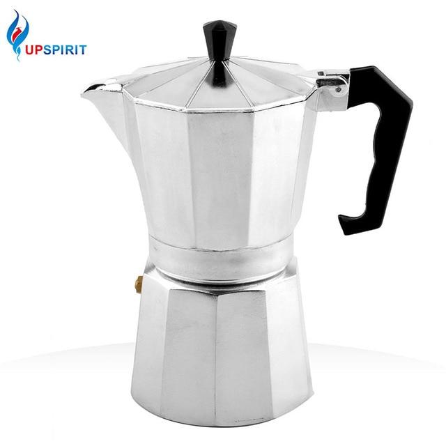 Upspirit New 120ml 240ml Aluminum Moka Coffee Pot Pressure Machine Maker European Standard