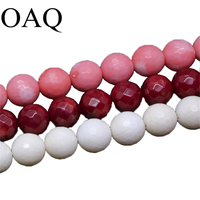 3 colors 10mm coral Facet round beads Natural Stone Beads for DIY Jewelry Making Accessories