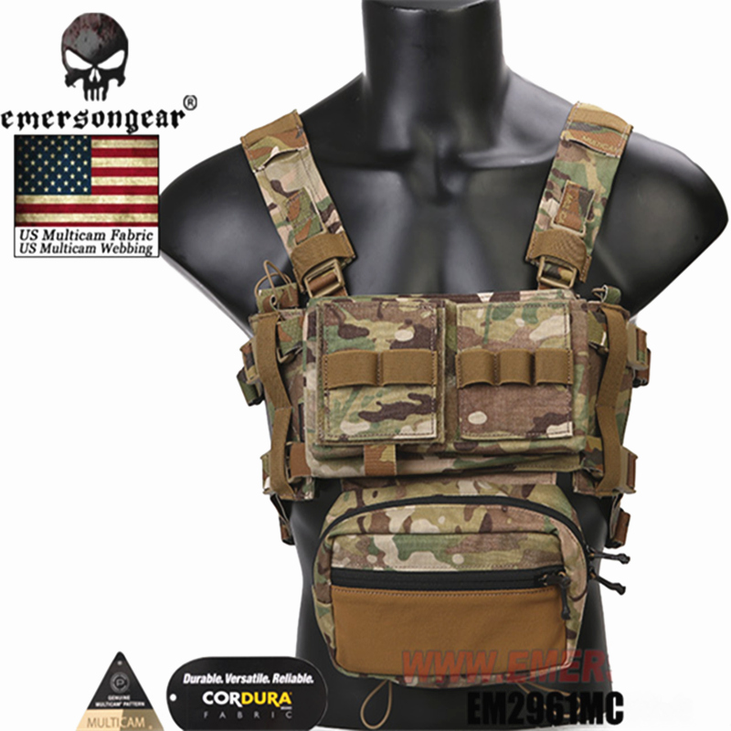 2019 NEW Emersongear Micro Fight Chissis MK3 Chest Rig Airsoft Hunting Vest Ranger Green Military Tactical