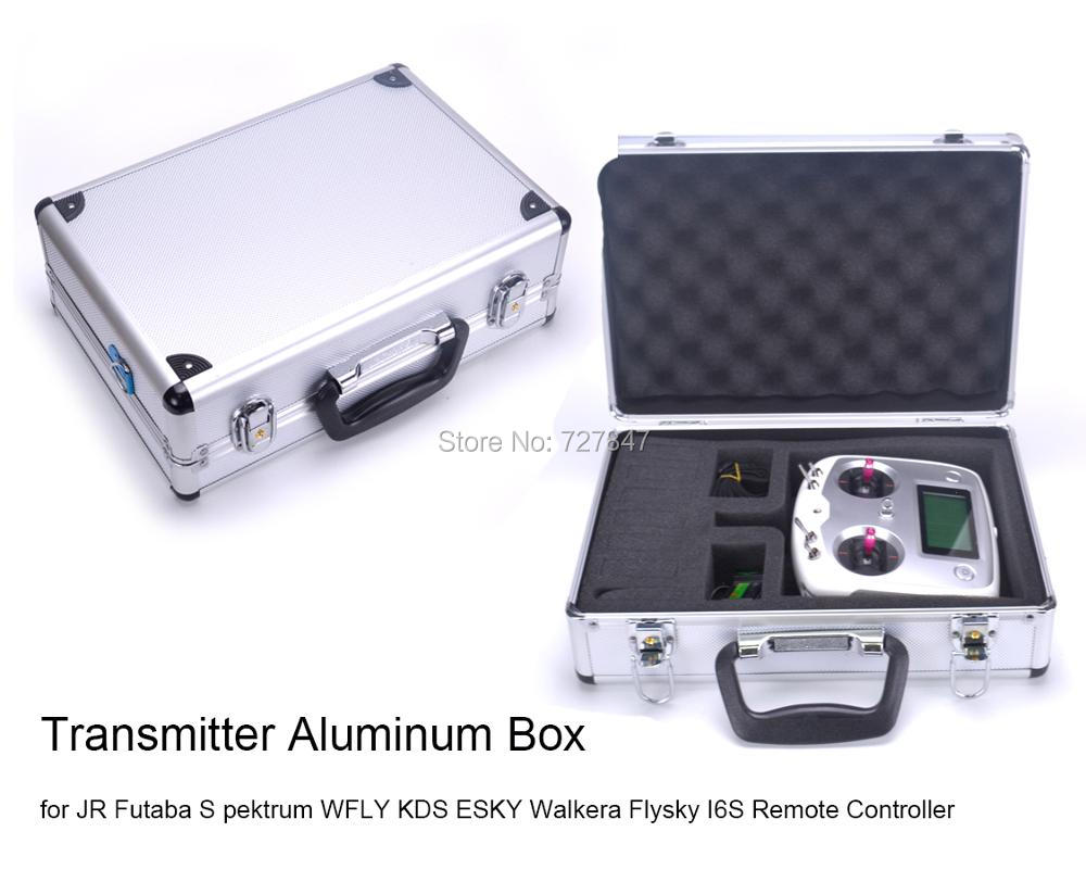 New High Quality Universal Transmitter Case Aluminum Box for JR Futaba S pektrum WFLY KDS ESKY Walkera Remote Controller wsx s04 11 1v 2200ma lipo battery for futaba kds jr fs walkera