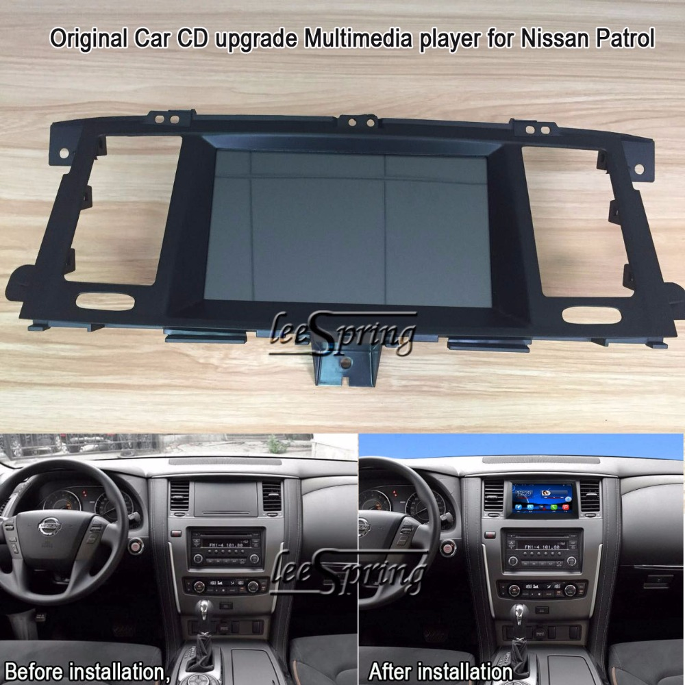 8 inch Original Car CD upgrade Multimedia player for Nissan Patrol (Original Car with Glove Box) with GPS Wifi