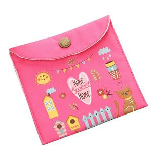 KABOER Pad Storage Holder Case Girl Women Bags Fabric