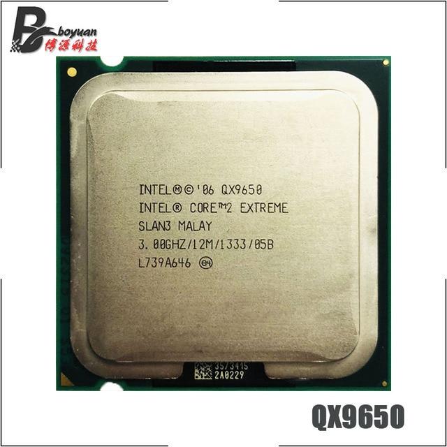 Intel processador extreme qx9650, processador de 3.0 ghz quad core cpu l2 = 12m 1333 lga 775