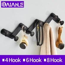 Baianle крючок для унитаза черное настенное крепление гостиной