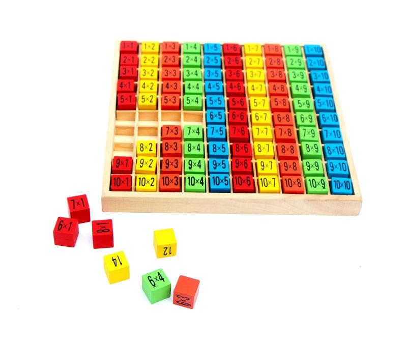 무료 배송 아기 나무 장난감 99 곱셈 테이블 수학 - 학습 및 교육 - 사진 2