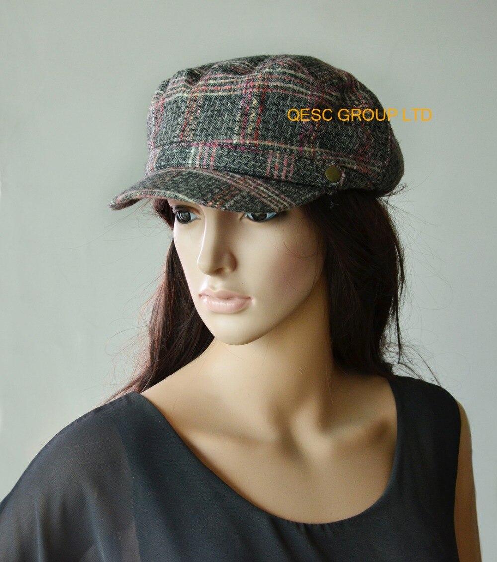 Новая элегантные серые pjnk Модные женские шерстяные зимние шапки теплые шляпы свадебные женские шляпы