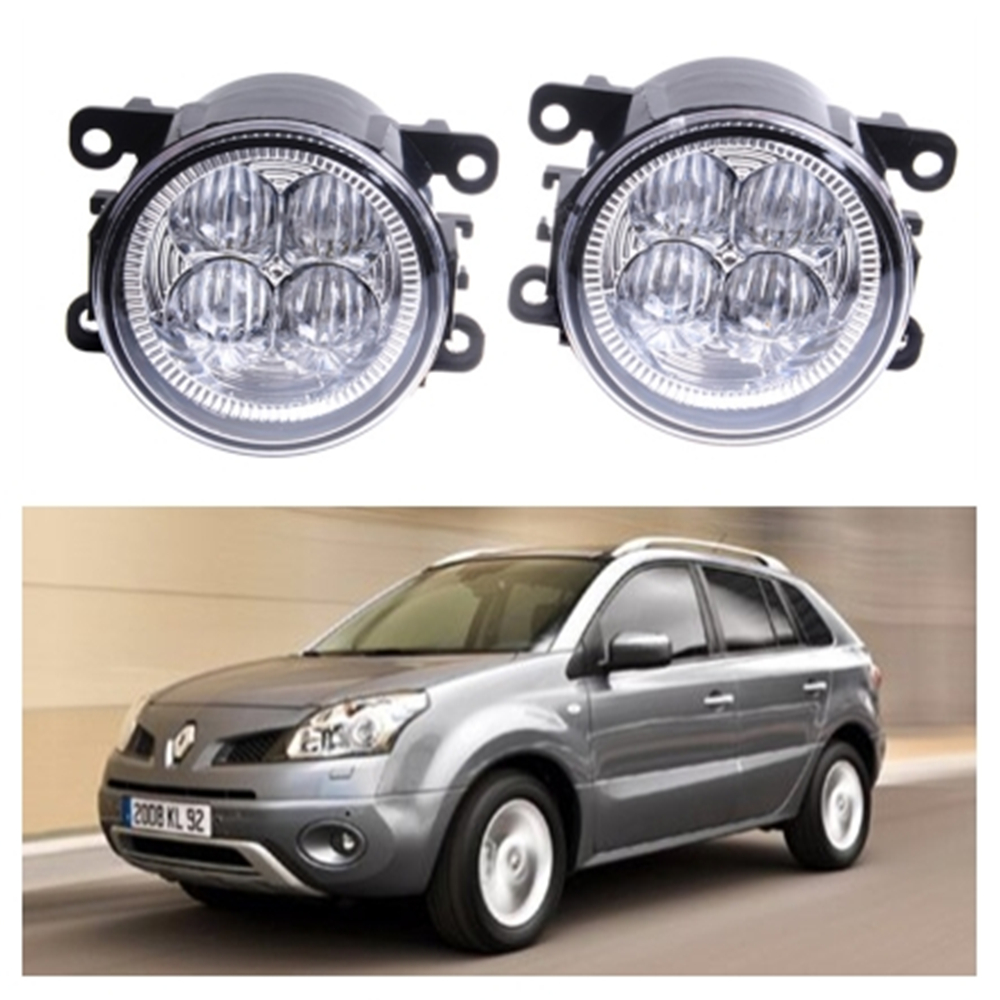 For Renault Koleos HY Closed Off-Road Vehicle  2008-2015 10W High power lens set light LED Fog Lights Car Styling fog lamps for renault koleos hy