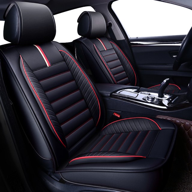 New Universal Leather auto car seat cover For Audi A6L R8 Q3 Q5 Q7 S4 RS Quattro A1 A2 A3 A4 A5 A6 A7 A8 auto accessories style
