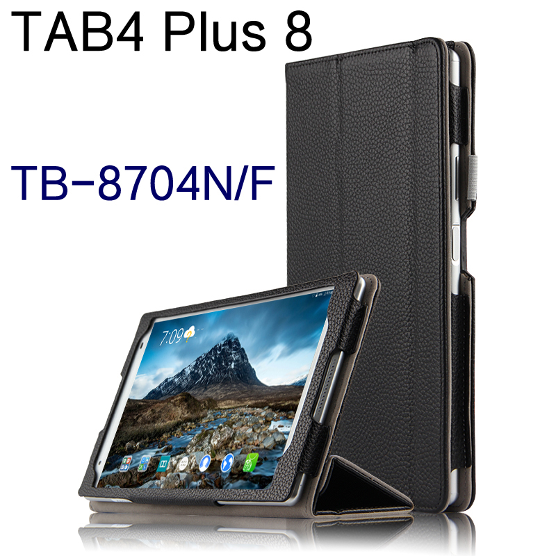 High Quality Genuine Real Leather Stand Shell Cover Mangetic Coque Funda Case For Lenovo TAB 4 8 Plus TB-8704N TB-8704F Tablet купить