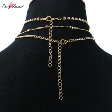 FREE SHIPPING Multilayer Long Tassel Body Chains Kit Choker Jewelry Gold Color Halter Necklaces JKP1054