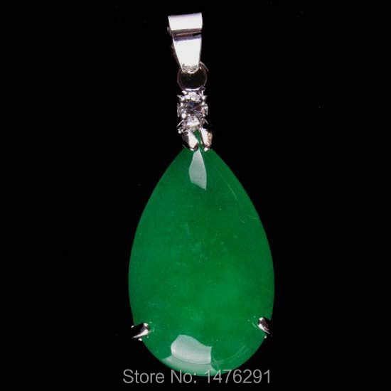 16X35 мм имитация зеленый нефрит подвеска в форме слезы драгоценных камней, 1 шт.